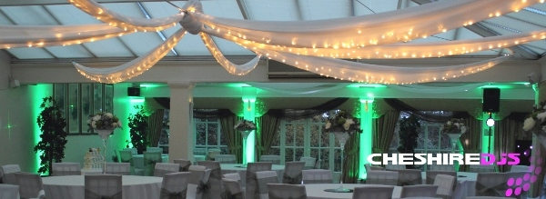 Cheshire DJs Uplighting At Mere Court